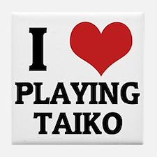 PLAYING TAIKO Tile Coaster