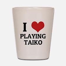 PLAYING TAIKO Shot Glass