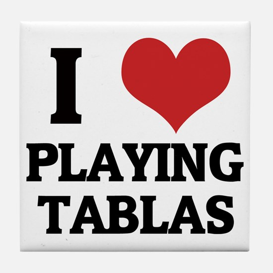 PLAYING TABLAS Tile Coaster