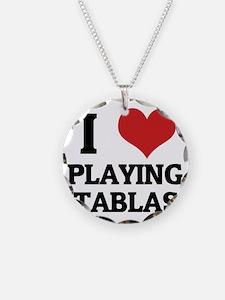 PLAYING TABLAS Necklace