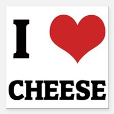"""CHEESE Square Car Magnet 3"""" x 3"""""""