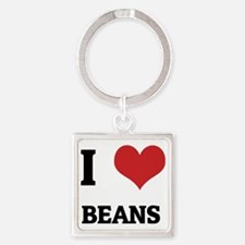 BEANS Square Keychain