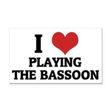PLAYING THE BASSOON Rectangle Car Magnet