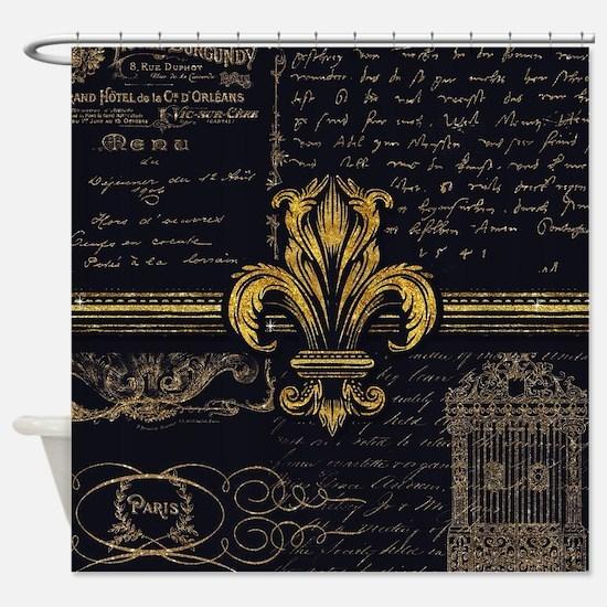 Fleur de Lis French Paris Vintage S Shower Curtain