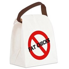 FAT CHICKS2 Canvas Lunch Bag