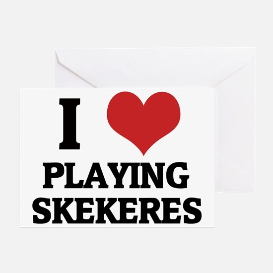 PLAYING SKEKERES Greeting Card