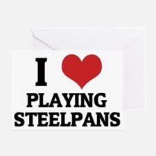 PLAYING STEELPANS Greeting Card