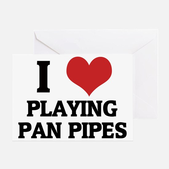 PLAYING PAN PIPES Greeting Card