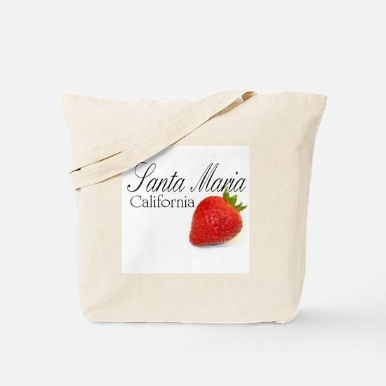 Santa Maria Strawberries Tote Bag
