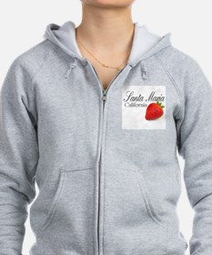 Santa Maria Strawberries Zip Hoodie