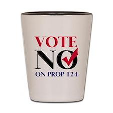 voteno124 Shot Glass