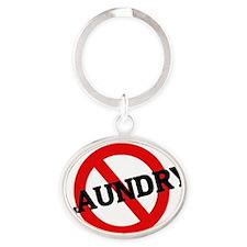 LAUNDRY4 Oval Keychain