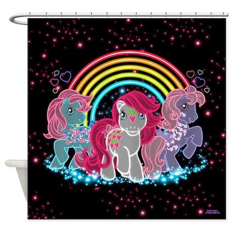 My Little Pony Retro Neon Shower Curtain