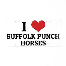 SUFFOLK PUNCH HORSES Aluminum License Plate