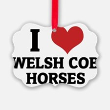 WELSH COB HORSES Ornament