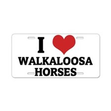 WALKALOOSA HORSES Aluminum License Plate