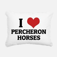 PERCHERON HORSES Rectangular Canvas Pillow