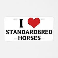 STANDARDBRED HORSES Aluminum License Plate