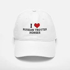 RUSSIAN TROTTER HORSES Baseball Baseball Cap