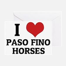 PASO FINO HORSES Greeting Card