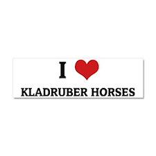 KLADRUBER HORSES Car Magnet 10 x 3