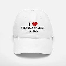 COLONIAL SPANISH HORSES Baseball Baseball Cap