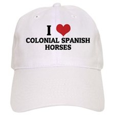 COLONIAL SPANISH HORSES Baseball Cap