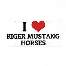 KIGER MUSTANG HORSES Aluminum License Plate