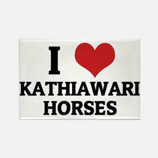 KATHIAWARI HORSES Rectangle Magnet