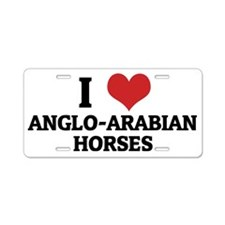 ANGLO-ARABIAN HORSES Aluminum License Plate