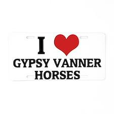 GYPSY VANNER HORSES Aluminum License Plate