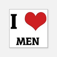 """MEN Square Sticker 3"""" x 3"""""""