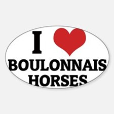 BOULONNAIS HORSES Sticker (Oval)