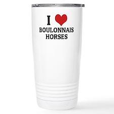 BOULONNAIS HORSES Thermos Mug