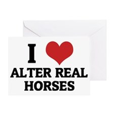 ALTER REAL HORSES Greeting Card