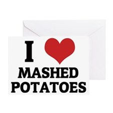 MASHED POTATOES Greeting Card