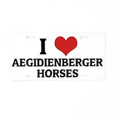 AEGIDIENBERGER HORSES Aluminum License Plate