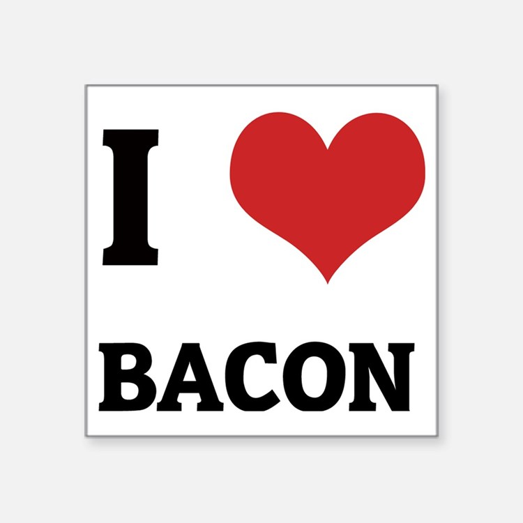 "BACON Square Sticker 3"" x 3"""