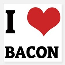 """BACON Square Car Magnet 3"""" x 3"""""""
