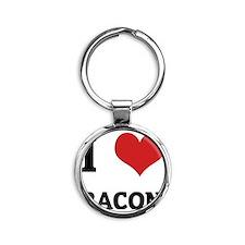 BACON Round Keychain