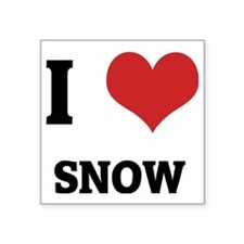 "SNOW Square Sticker 3"" x 3"""
