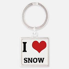 SNOW Square Keychain