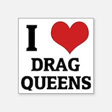 "DRAG QUEENS_1 Square Sticker 3"" x 3"""