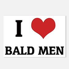 BALD MEN Postcards (Package of 8)