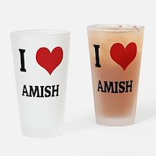 AMISH Drinking Glass