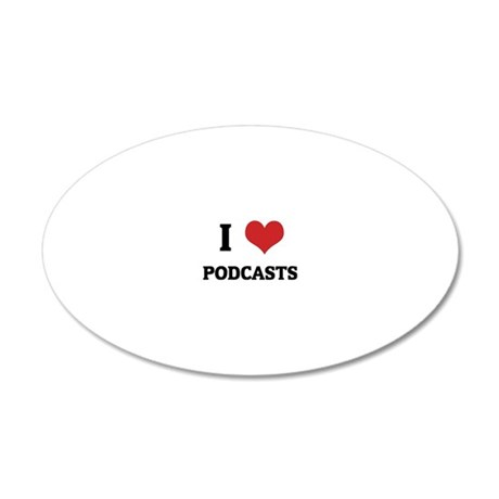 PODCASTS 20x12 Oval Wall Decal