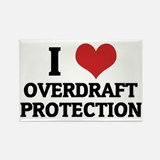 OVERDRAFT PROTECTION Rectangle Magnet