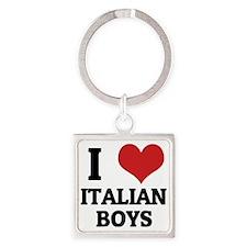 ITALIAN BOYS Square Keychain