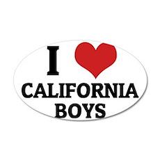 CALIFORNIA BOYS 35x21 Oval Wall Decal