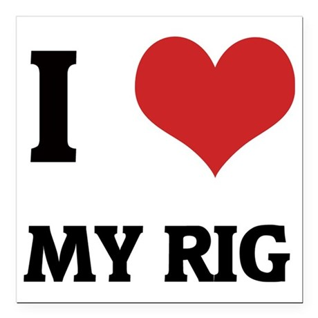 "MY RIG Square Car Magnet 3"" x 3"""